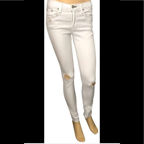 Rag and Bone White Skinny Jeans made for Intermix